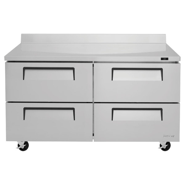 """Turbo Air TWR-60SD-D4-N Super Deluxe 60"""" Worktop Refrigerator with Four Drawers Main Image 1"""