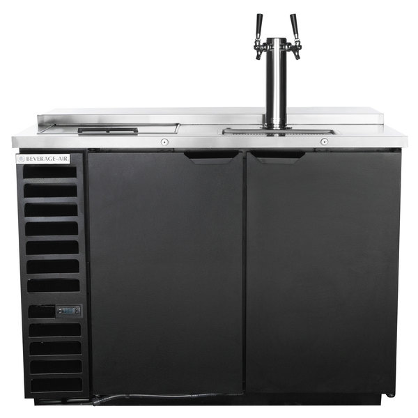 Beverage-Air DD50HC-1-C-B Double Tap Club Top Kegerator Beer Dispenser - Black, (2) 1/2 Keg Capacity