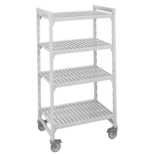 "Cambro CPMU214275V4480 Camshelving® Premium Mobile Shelving Unit with Premium Locking Casters 21"" x 42"" x 75"" - 4 Shelf"