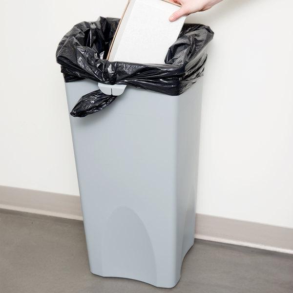 Rubbermaid FG356988GRAY Untouchable Gray 23 Gallon Square Trash Can