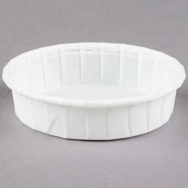 Dart Solo SCC100S 1 oz. Squat Paper Souffle / Portion Cup - 5000/Case