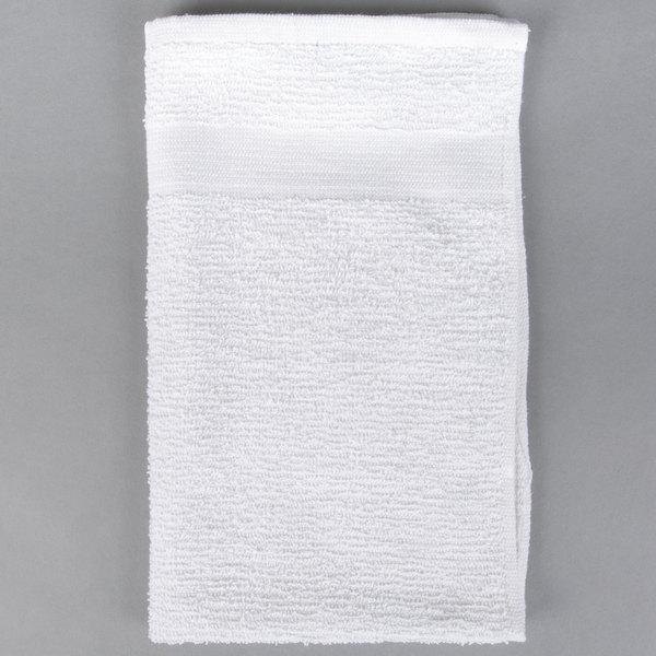 12 pk. White//Red Stripe Restaurant Towels