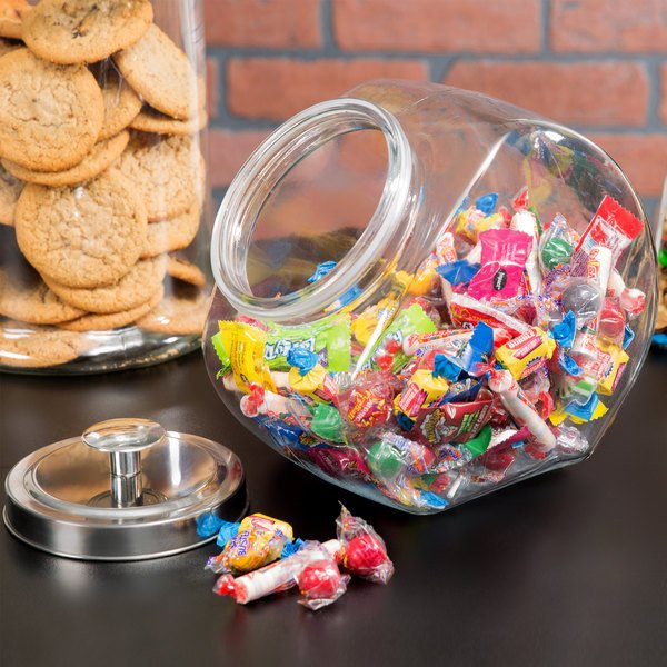 Core 1 Gallon Glass Penny Candy Jar with Chrome Lid