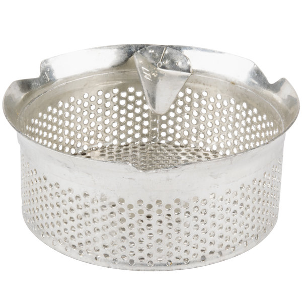 """Tellier M5040 5/32"""" Perforated Replacement Sieve for # 5 Food Mill - Tin-Plated Steel Main Image 1"""