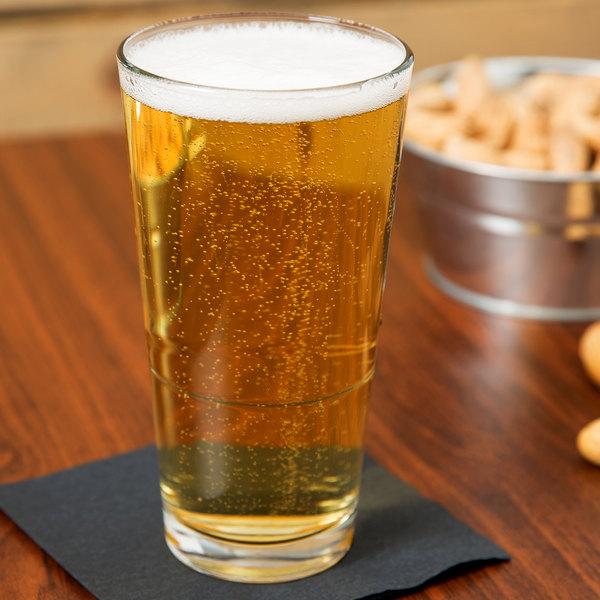 Libbey 15730 Restaurant Basics Customizable 17.25 oz. Stackable Pub Glass - 24/Case