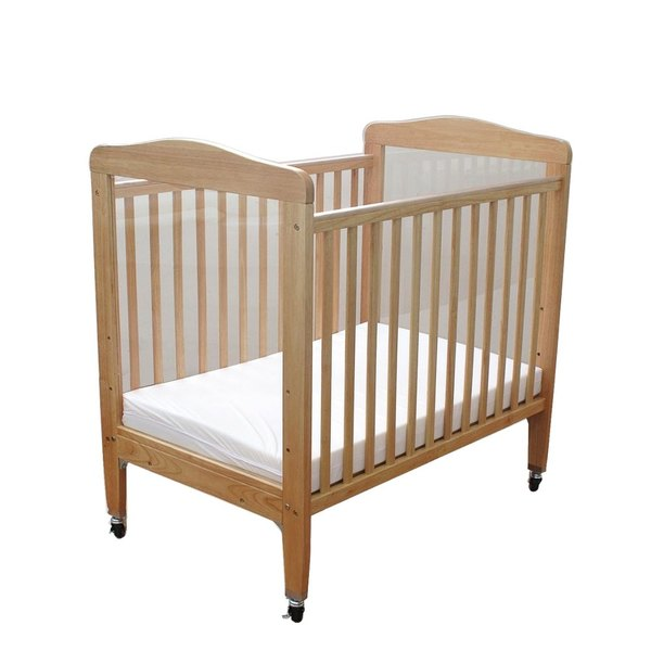 """L.A. Baby WC-510A-N 24"""" x 38"""" Compact Wooden Window Crib with 3"""" Fire Retardant Mattress Main Image 1"""