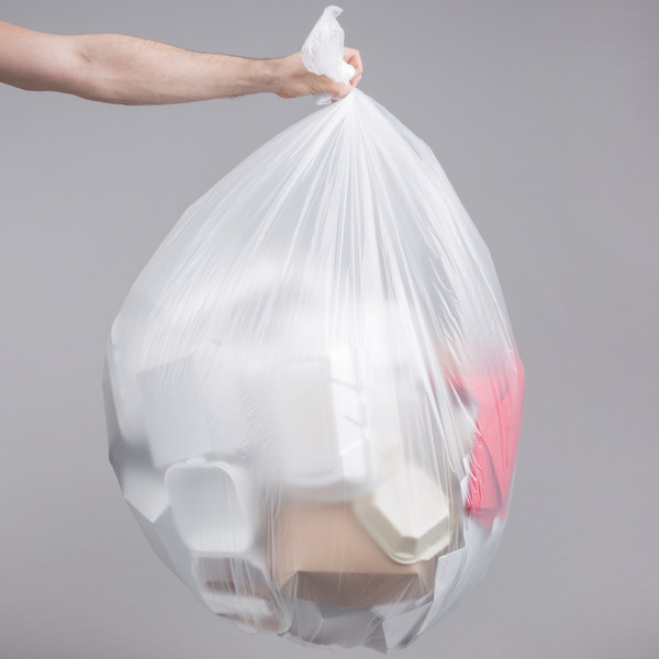 "55 Gallon 16 Micron 38"" x 60"" Lavex Janitorial High Density Can Liner / Trash Bag - 200/Case"