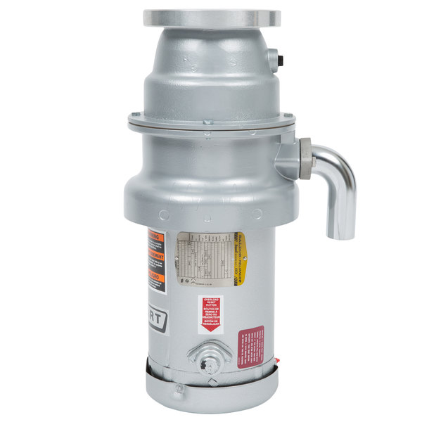 Hobart FD4/125-1 Commercial Garbage Disposer with Short Upper Housing - 1 1/4 hp, 208-240/480V Main Image 1