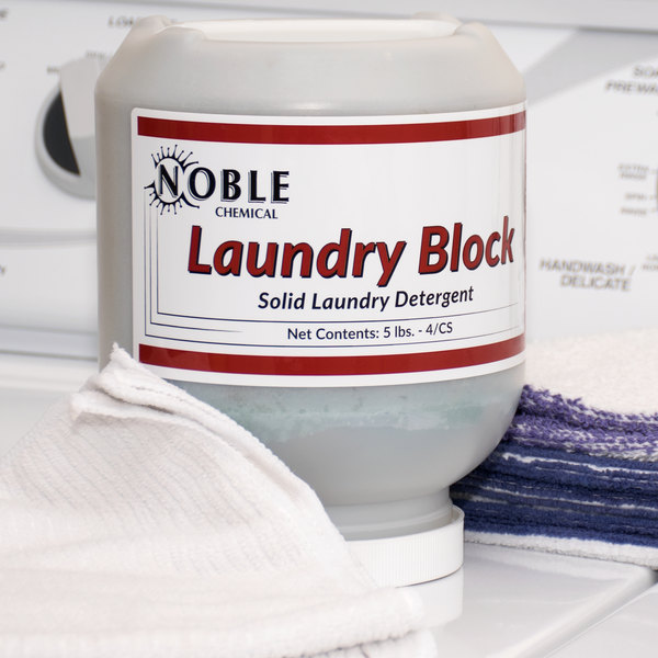 5 lb. Noble Chemical Laundry Block Solid Laundry Detergent - 4/Case