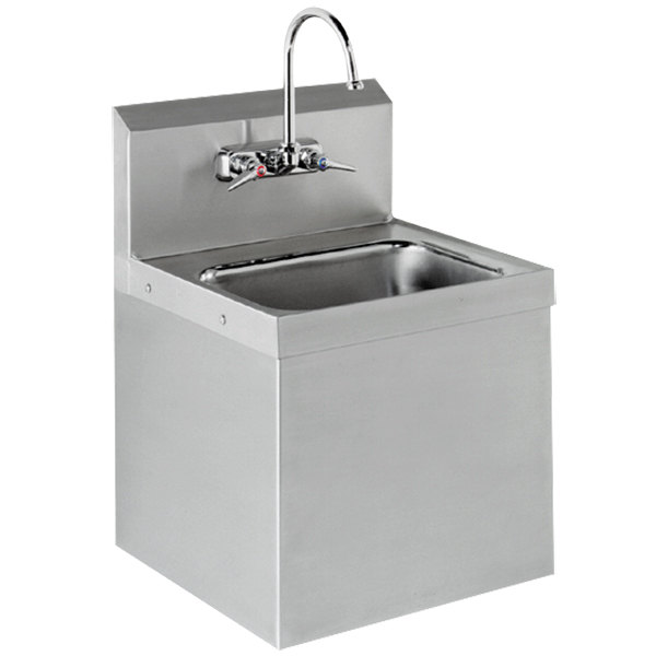 "Advance Tabco 7-PS-747 Hand Sink with Security Installation - 17 1/4"" x 15 1/4"""