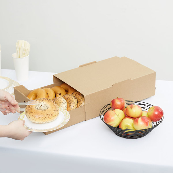 "LBP 9619 20 1/4"" x 13 3/4"" x 4 3/4"" Large Catering Tray with Cover - 15/Case"