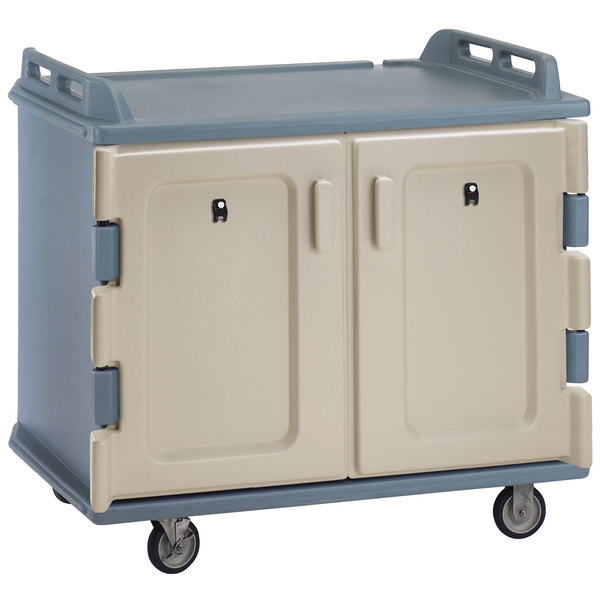 Cambro MDC1418S20401 Slate Blue Meal Delivery Cart 20 Tray Main Image 1