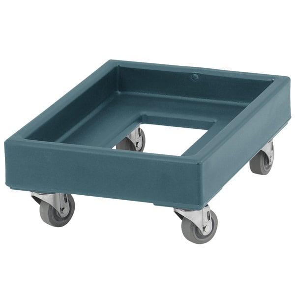 Cambro CD1420401 350 lb. Slate Blue Camdolly Milk Crate Dolly