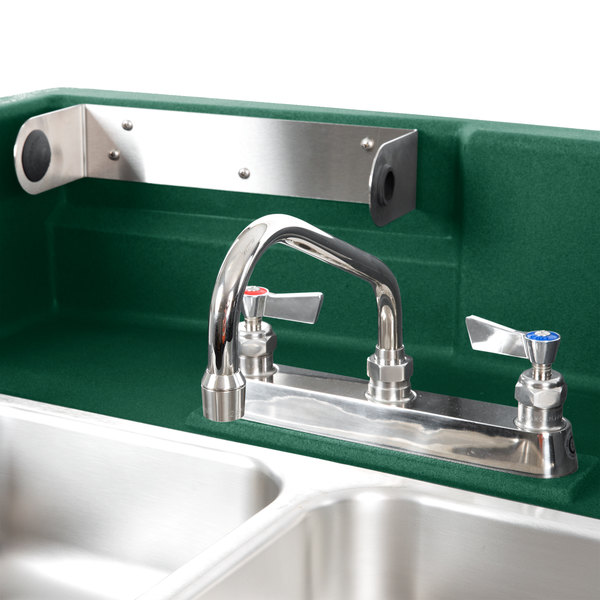 Cambro KSC402519 Green CamKiosk Portable Self-Contained Hand Sink Cart -  110V