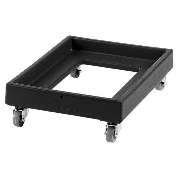 Cambro CD2028110 350 lb. Black Camdolly Milk Crate Dolly