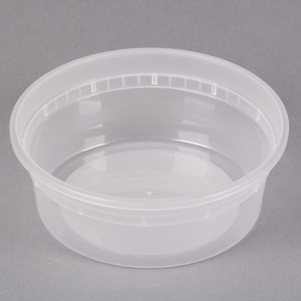 Pactiv/Newspring L5008Y 8 oz. Translucent Round Deli Container - 480/Case