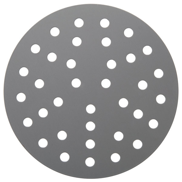 "American Metalcraft 18908PHC 8"" Perforated Pizza Disk - Hard Coat Anodized Aluminum"