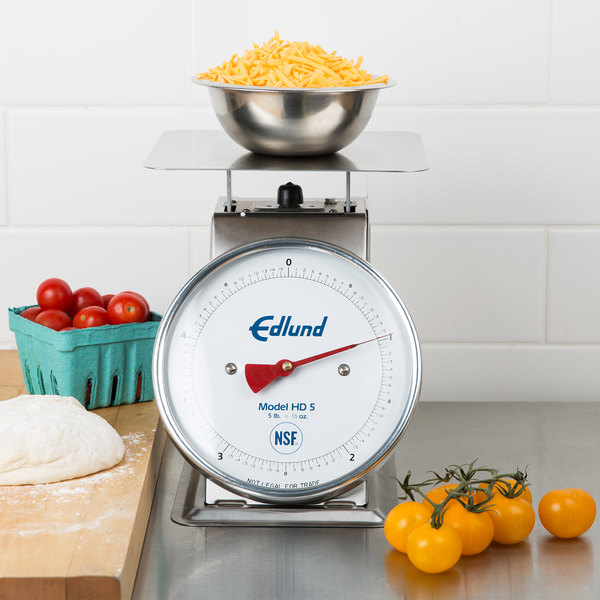 """Edlund HD-5DP Heavy-Duty 5 lb. Portion Scale with 8 1/2"""" x 8 1/2"""" Platform and Air Dashpot"""