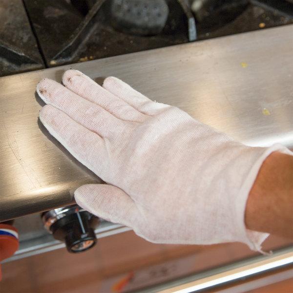 San Jamar IG100 White Inspector Gloves - 12/Pack
