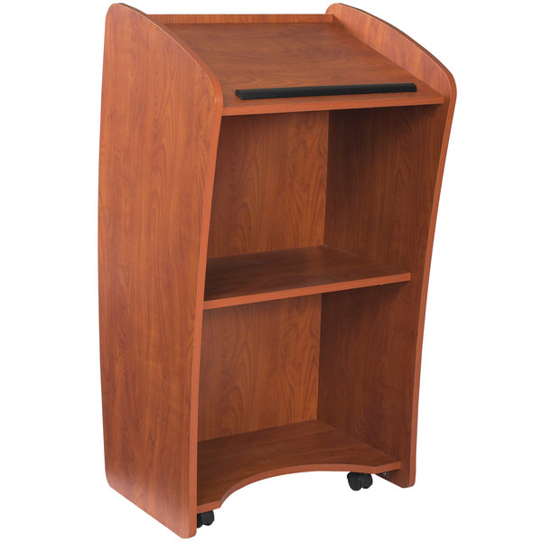 Oklahoma Sound 611-CH Wild Cherry Finish Vision Lectern Main Image 1