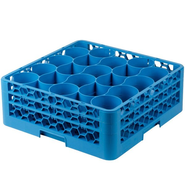 Carlisle RW20-114 OptiClean NeWave 20 Compartment Glass Rack with 2 Extenders Main Image 1