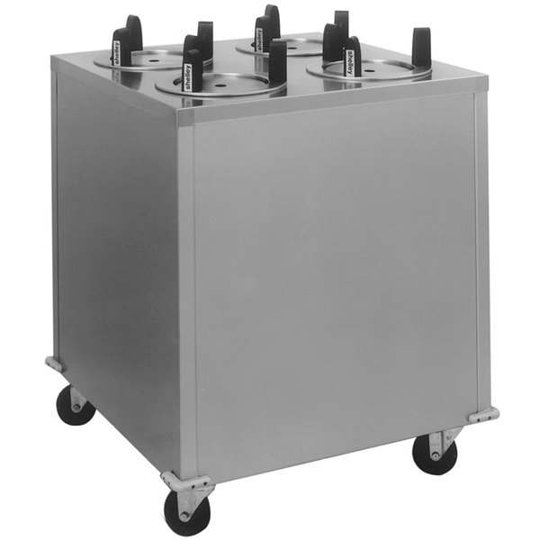 """Delfield CAB4-500 Mobile Enclosed Four Stack Dish Dispenser for 3"""" to 5"""" Dishes"""