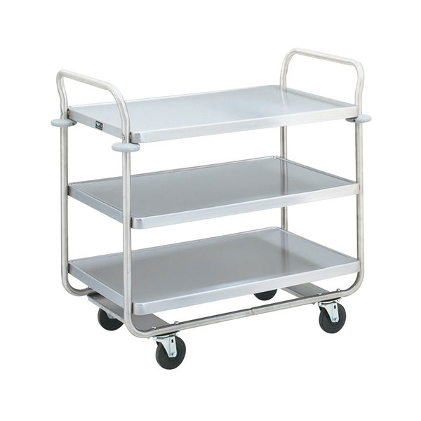 "Vollrath 97166 Thrift-I-Cart Chrome 3 Shelf Cart - 24"" x 16"" x 36 1/2"""