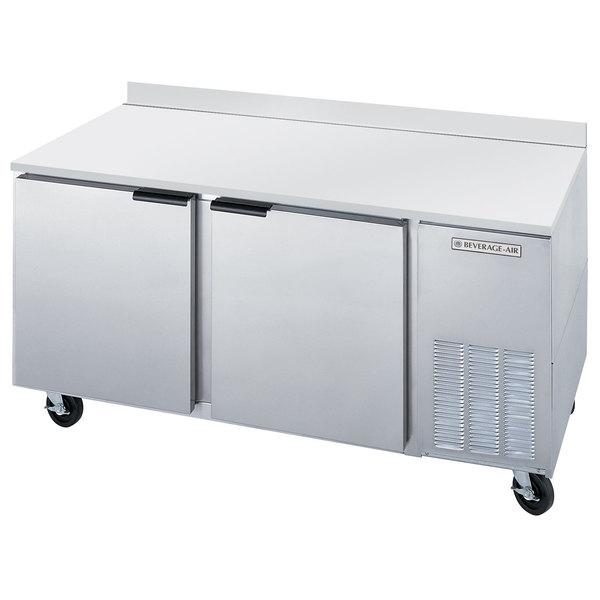 """Beverage-Air WTF67AHC 67"""" Two Door Compact Worktop Freezer"""