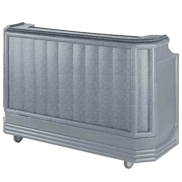 "Cambro BAR730PM191 Granite Gray Cambar 73"" Post-Mix Portable Bar with 7 Bottle Speed Rail, Cold Plate, and Soda Gun Main Image 1"