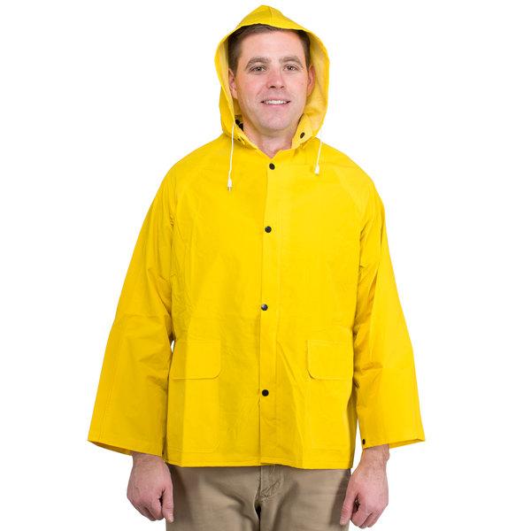 Yellow 2 Piece Rain Jacket - Large Main Image 1