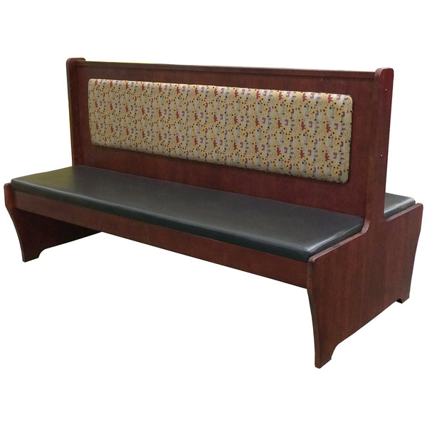 """American Tables & Seating AWD-72 Double Wood Booth - 42"""" High"""