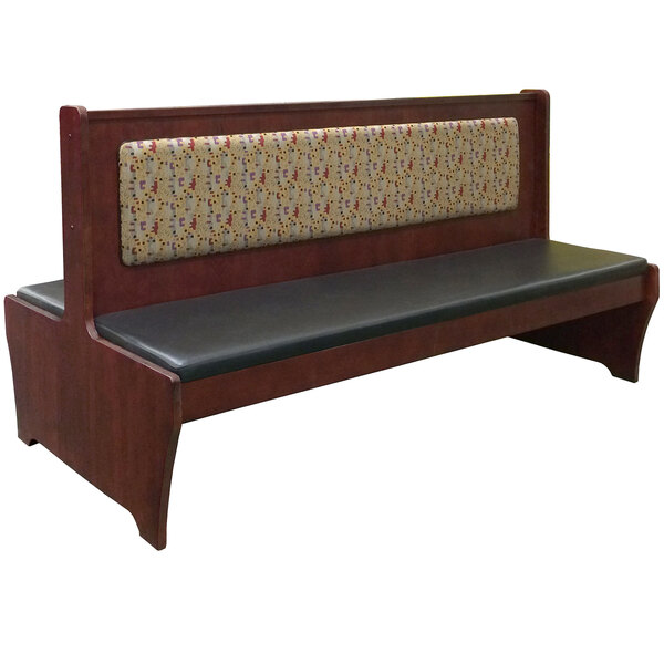 """American Tables & Seating AWD-72 72"""" Double Dark Mahogany Wood Booth Main Image 1"""