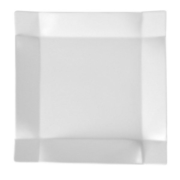 "CAC TMS-16 Times Square 10"" Bright White Square China Plate - 12/Case Main Image 1"