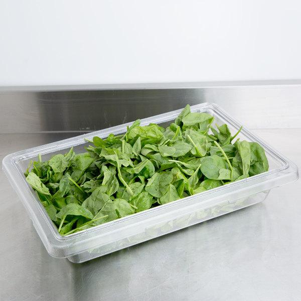"""Cambro 12183CW135 Camwear 12"""" x 18"""" x 3 1/2"""" Clear Polycarbonate Food Storage Box"""
