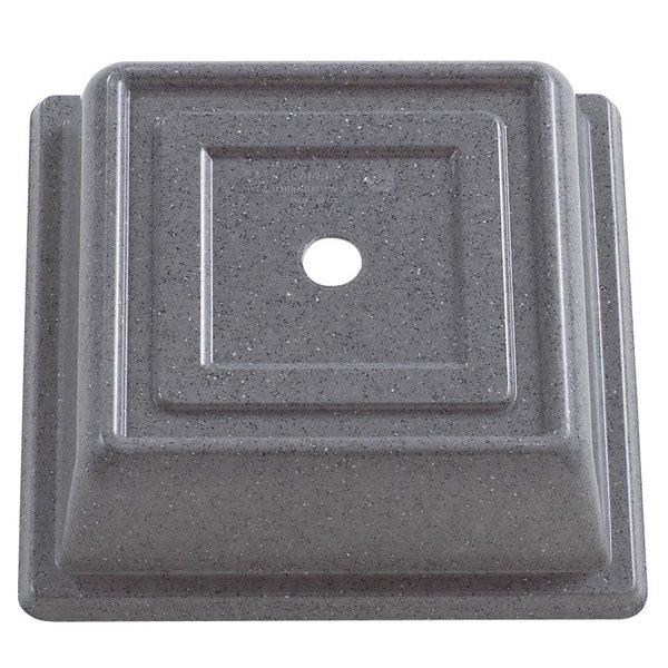 """Cambro 85SFVS191 Versa Camcover 8 1/2"""" Granite Gray Square Plate Cover - 12/Case"""