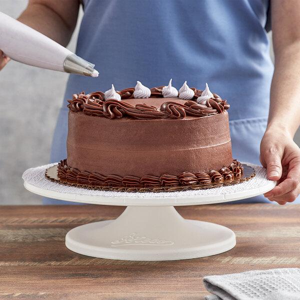 "Ateco 610 12"" Revolving Plastic Cake Stand Main Image 4"