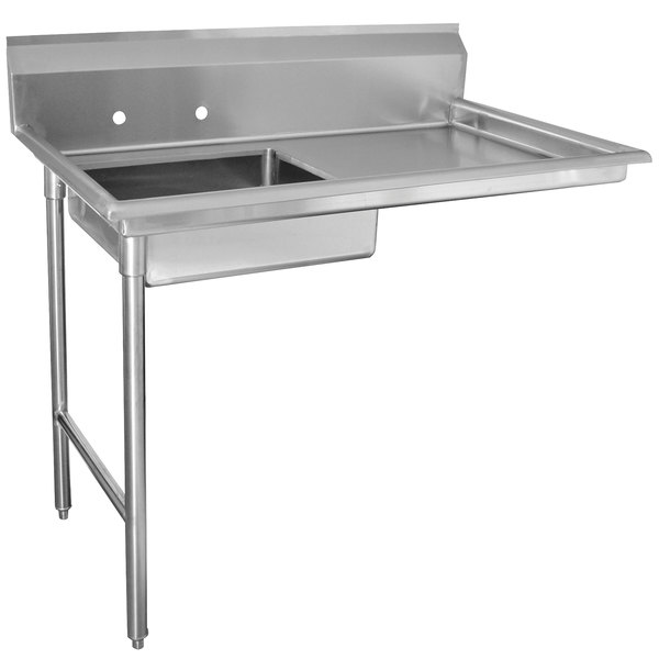 "Sink on Left Advance Tabco DTU-U60-72 72"" Undercounter Dishtable"