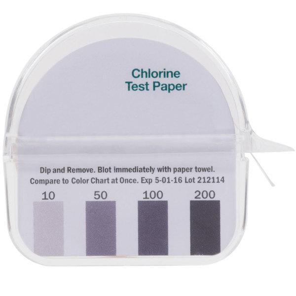 15' Chlorine Test Paper Dispenser - 10-200ppm