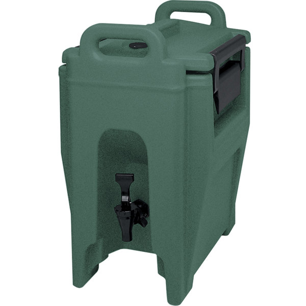 Cambro UC250192 Ultra Camtainers® 2.75 Gallon Granite Green Insulated Beverage Dispenser Main Image 1