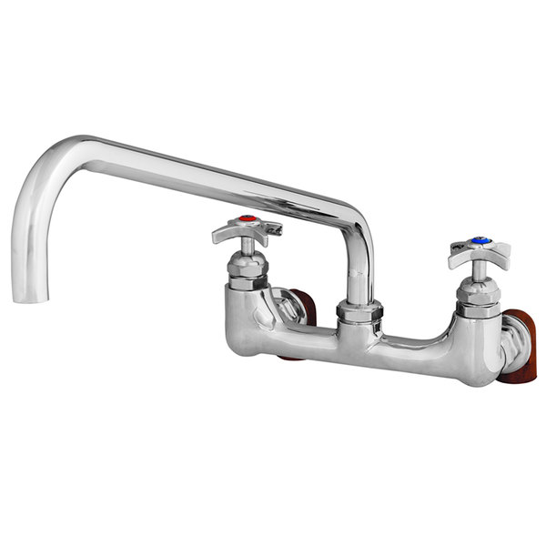 """T&S B-0291 18"""" Wall Mounted Big Flo Mixing Faucet with 8"""" Centers"""