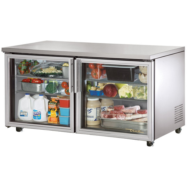 "True TUC-60G-ADA 60"" ADA Height Undercounter Refrigerator with Glass Doors"