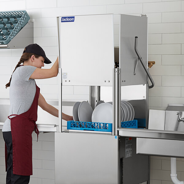 Jackson TempStar HH-E Door Type Dishwasher High Hood with Electric Booster Heater - 208/230V, 3 Phase Main Image 2