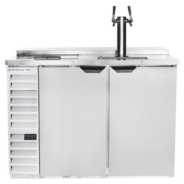 beverage air dd50hc 1 c s single tap club top kegerator beer dispenser stainless steel front - Beverage Air Kegerator