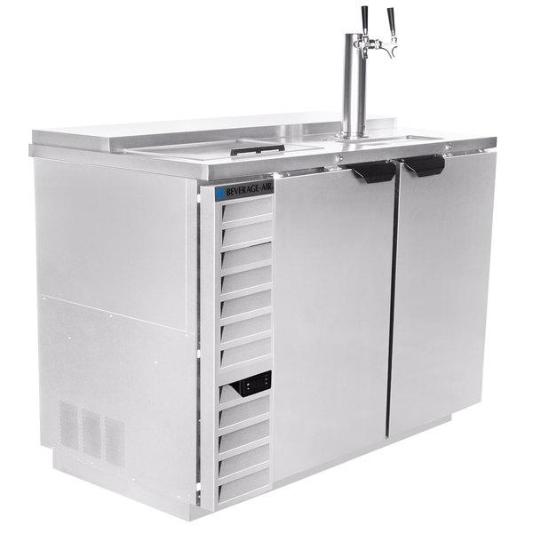 Beverage-Air DD50HC-1-C-S Single Tap Club Top Kegerator Beer Dispenser - Stainless Steel Front, (2) 1/2 Keg Capacity Main Image 1