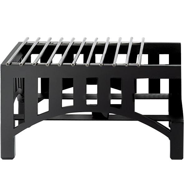 "Cal-Mil 1363-13 Black Steel Mission Style 14"" x 12"" Butane Stove Frame"