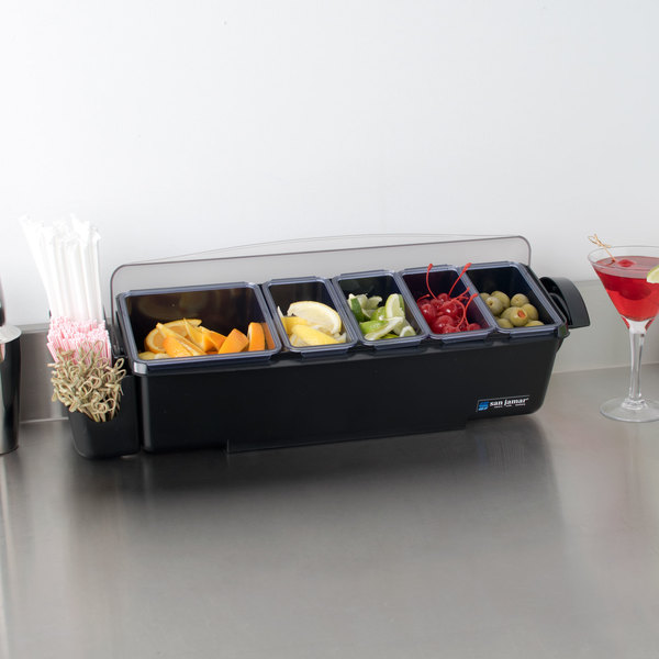 San Jamar BD4005S The Dome Bar Condiment and Garnish Dispenser with Dome Lid