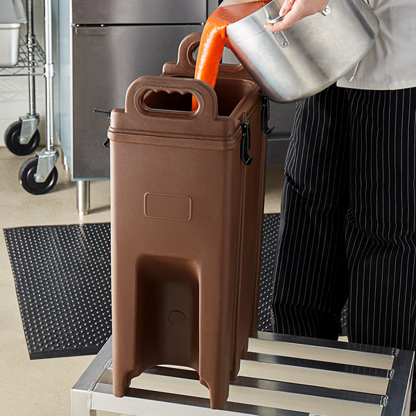 Carlisle Ld500nss01 Cateraide 5 Gallon Brown Insulated Soup And Chili Server