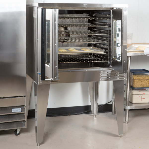 Garland MCO-GD-10S Natural Gas Single Deck Deep Depth Full Size Convection Oven with Analog Controls - 60,000 BTU