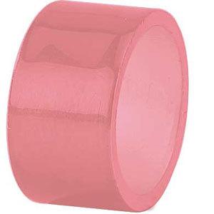 Tabletop Classics AC-6512PK Pink 1 3/4 inch Round Acrylic Napkin Ring