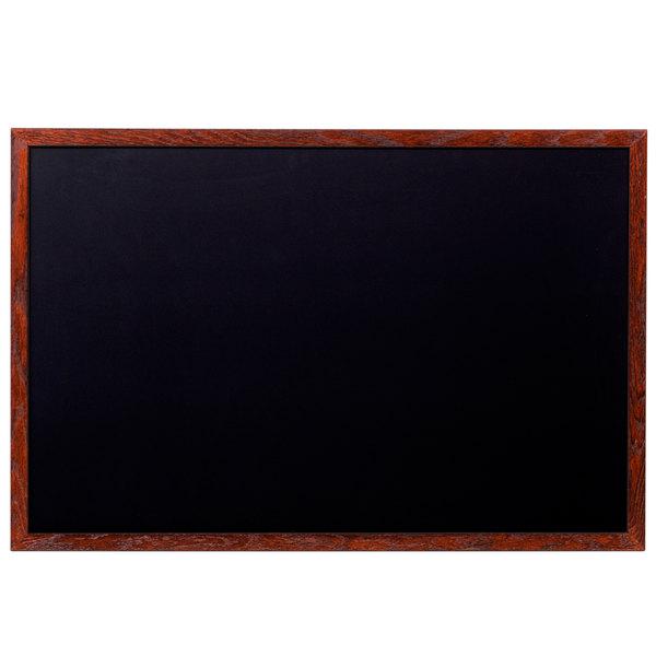 Aarco Oc2436nt B Mahogboxd 24 X 36 Mahogany Frame Black Chalk Board